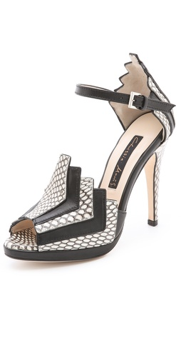 Chrissie Morris La Roisin Snakeskin Sandals