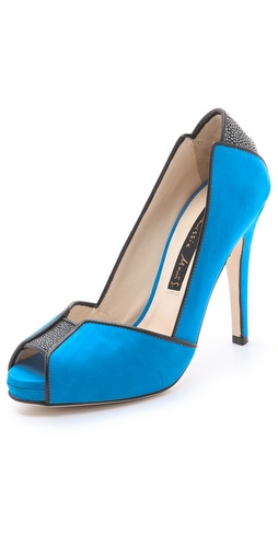 Chrissie Morris Metropolis Open Toe Pumps