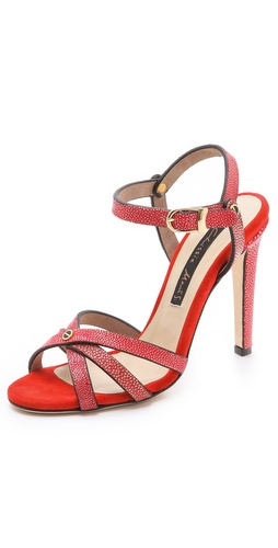Chrissie Morris Tri-Strap Stingray Sandals