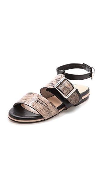 Chrissie Morris Mirta Lizard Sandals