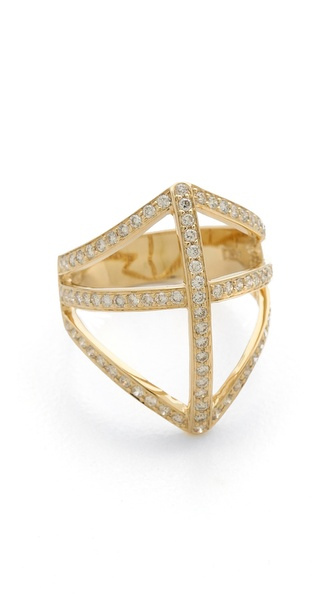 Campbell Diamond Shield Ring