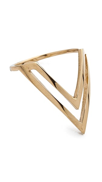 Campbell Chevron Midi Ring