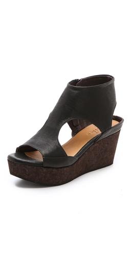 Coclico Shoes Mosaic Cork Wedge Sandals