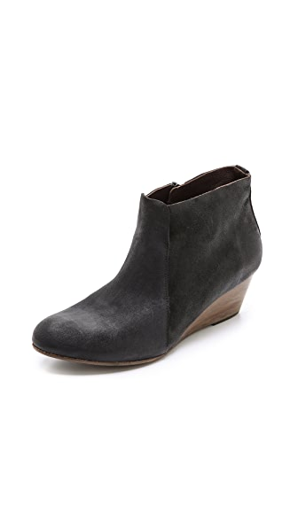 Coclico Shoes Kennedy Suede Wedge Booties