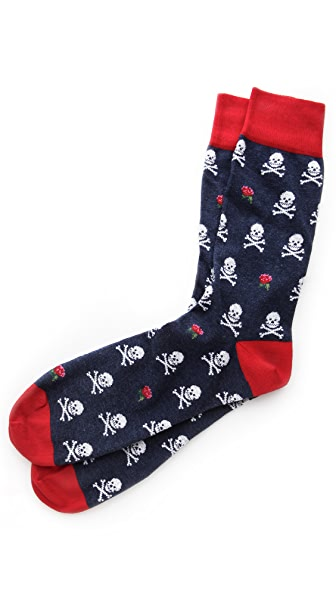 Corgi Skull Print Socks