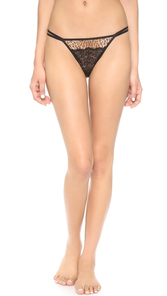 Cosabella Elise Printed Low Rise Thong