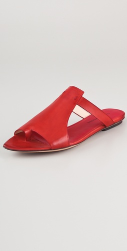 CoSTUME NATIONAL Tapered Toe Ring Sandals