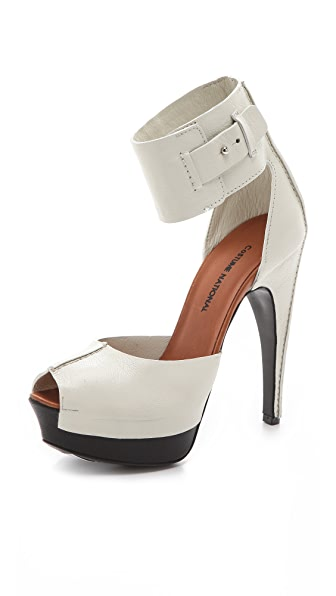 CoSTUME NATIONAL Bianca Peep Toe Pumps