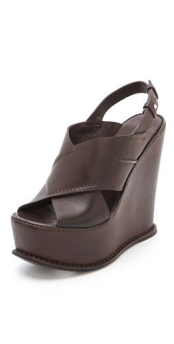 CoSTUME NATIONAL Ramona Wedge Sandals