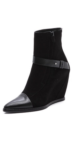CoSTUME NATIONAL Suede Wedge Boots at Shopbop / East Dane
