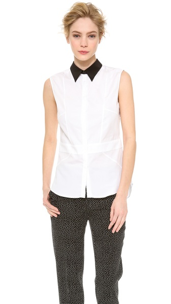 CoSTUME NATIONAL Sleeveless Shirt with Inserts