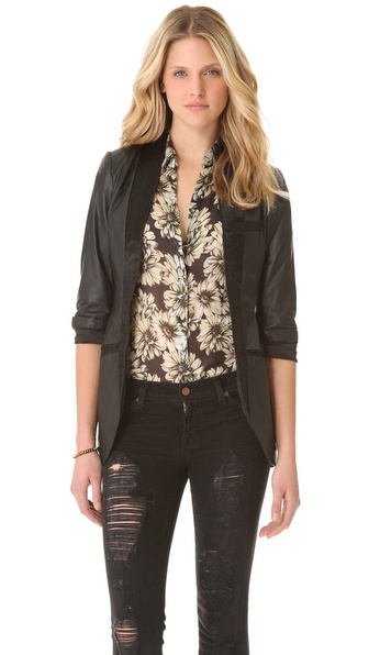 Cote By Improvd Maja Leather Blazer