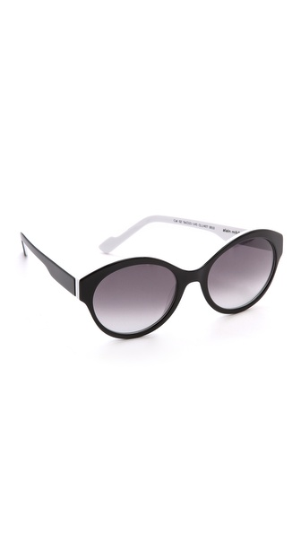 Courreges Two Tone Sunglasses - Black/White at Shopbop / East Dane