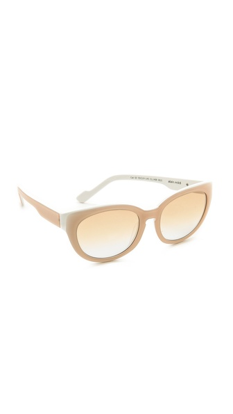 Courreges Oversized Sunglasses - Nude/White at Shopbop / East Dane