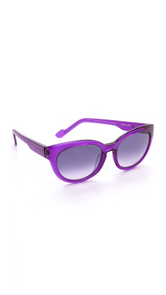 Courreges Oversized Sunglasses - Purple at Shopbop / East Dane