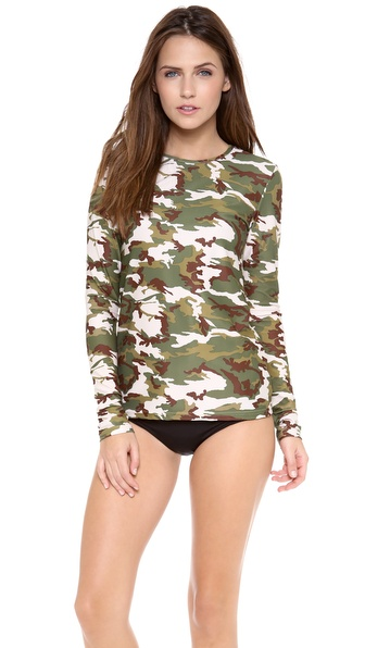 Cover Perfect Swim Rash Guard - Camo at Shopbop / East Dane