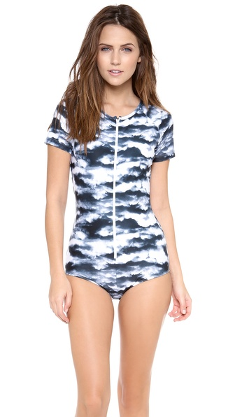 Cover Short Sleeve One Piece Swimsuit