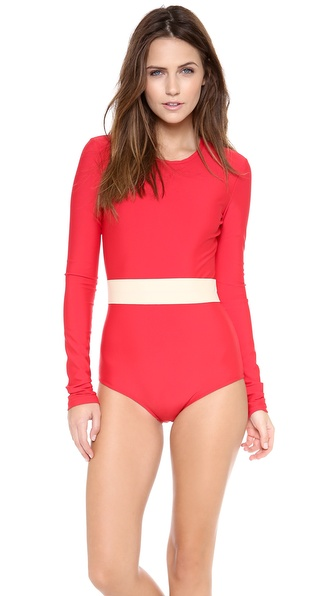 Cover Long Sleeve One Piece Swimsuit