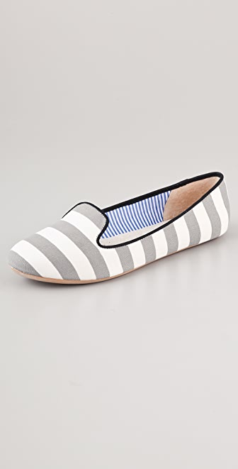 Charles Philip St. Tropez Striped Flats
