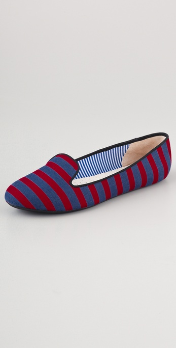 Charles Philip Classics Striped Flats