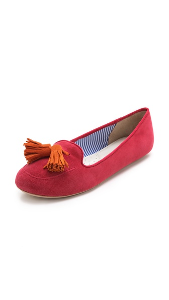 Charles Philip Sylvie Suede Tassel Flats