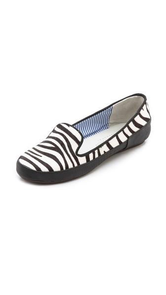 Charles Philip Gaby Zebra Haircalf Flats