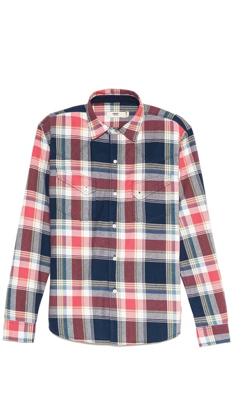 Creep Yarn Dyed Twill Western Shirt