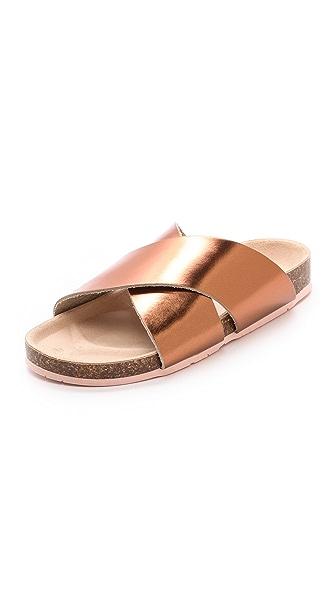 Charlotte Stone Luke Cross Strap Sandals