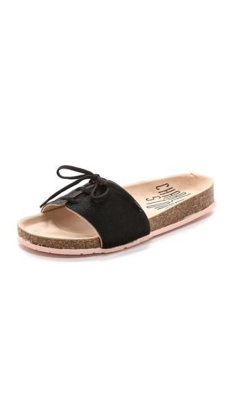 Charlotte Stone Barton Single Band Haircalf Sandals