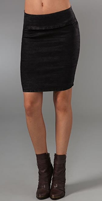 Current/Elliott The Pull On Pencil Skirt