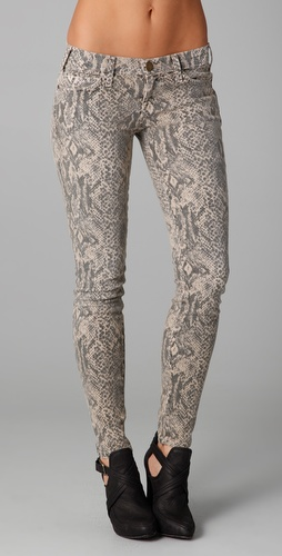 Current/Elliott Boa Print Ankle Skinny Jeans
