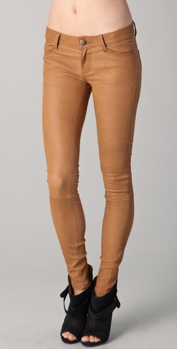 Current/Elliott The Ankle Skinny Leather Pants