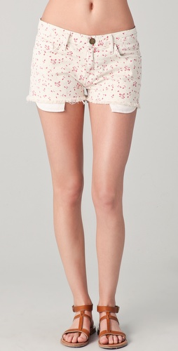 Current/Elliott The Floral Boyfriend Shorts