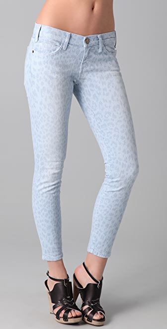 Current/Elliott The Stiletto Pastel Leopard Jeans
