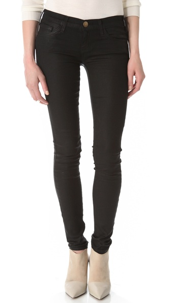 Current/Elliott Coated Skinny Jeans