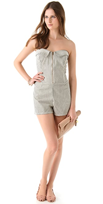 Current/Elliott The Zip Sweetheart Romper