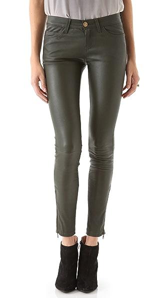 Current/Elliott The Zip Skinny Leather Pants