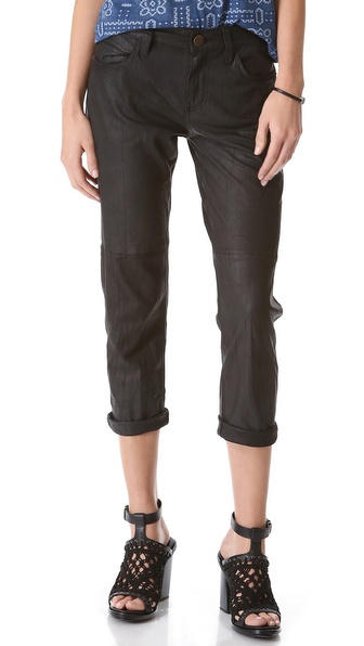 Current/Elliott The Boyfriend Leather Pants