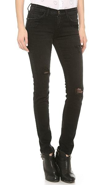Current/Elliott The Destroyed Ankle Skinny Jeans