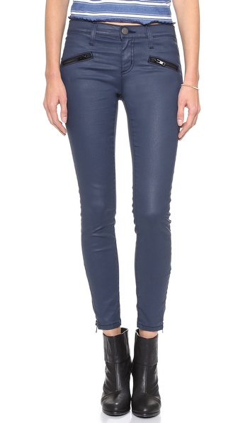 Current/Elliott The Soho Zip Stiletto Coated Jeans