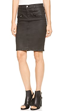 Current/Elliott The Soho Coated Stiletto Pencil Skirt