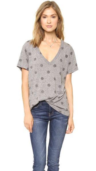 Current/Elliott The Polka Dot V Neck Tee