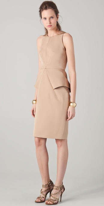 Cushnie et Ochs Sleeveless Peplum Dress