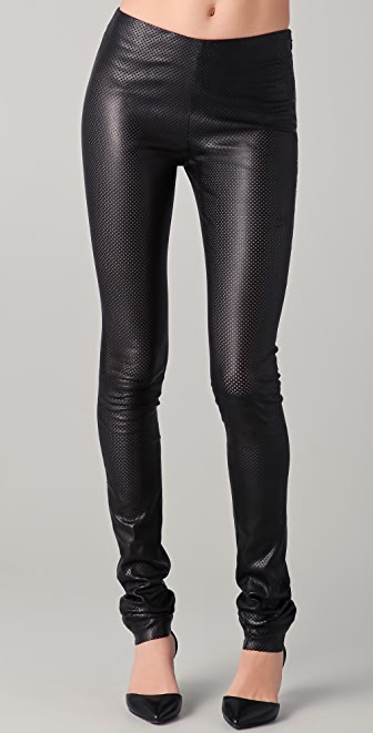 Cushnie et Ochs Perforated Leather Leggings