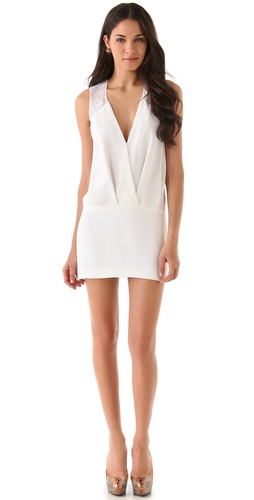 Cushnie et Ochs Silk & Lace Dress