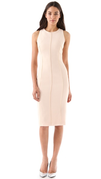Cushnie et Ochs Zipper Trim Sheath Dress