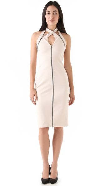 Cushnie et Ochs Interlock Zipper Dress