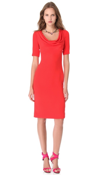 Cushnie et Ochs Cowl Neck Dress