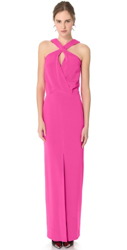 Cushnie et Ochs Crisscross Long Dress
