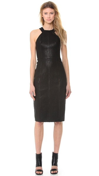 Cushnie et Ochs Leather Dress